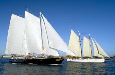Quantum Key West Race Week Spectator Sail on Schooner America 2.0